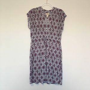 LOFT Outlet Short Sleeve Floral Dress